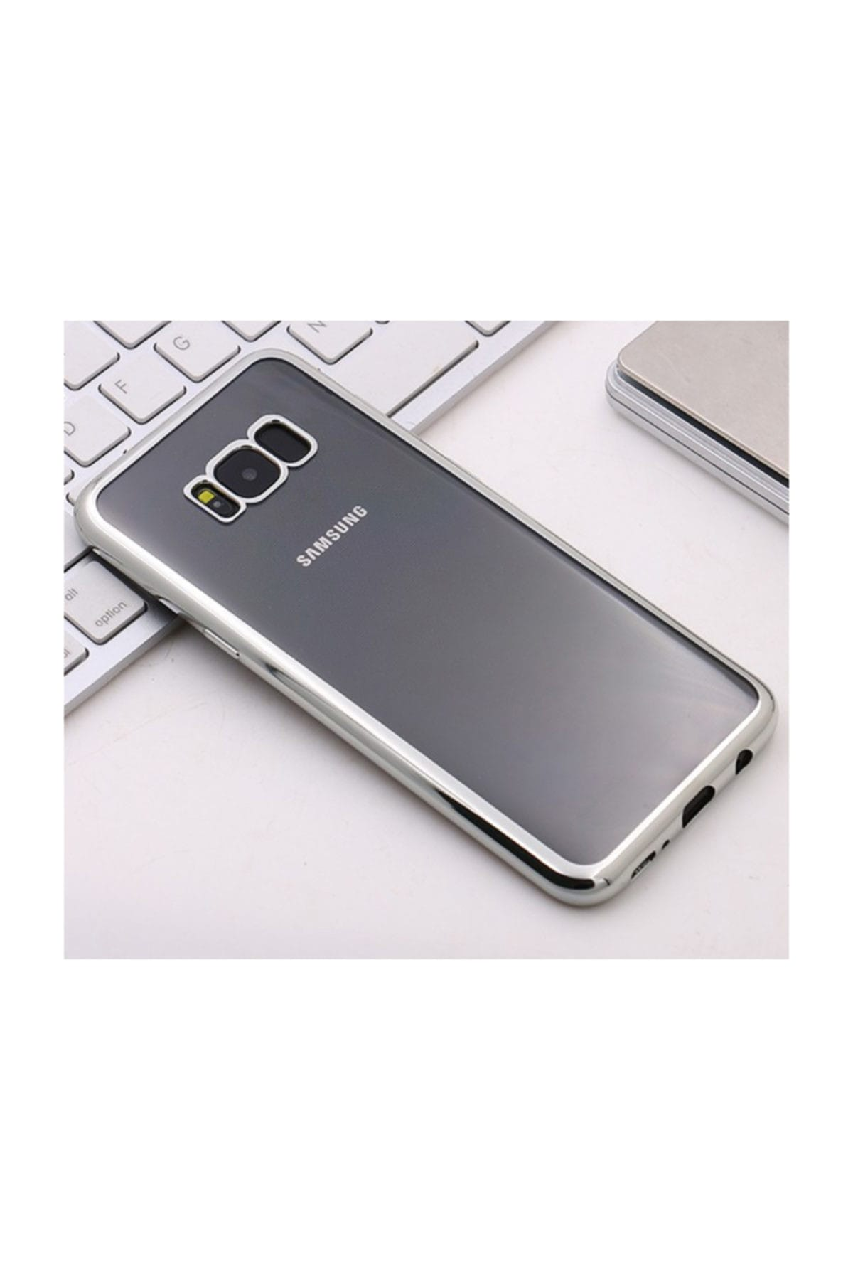 Microsonic Samsung Galaxy S8 Plus Kılıf Flexi Delux Gümüş 2