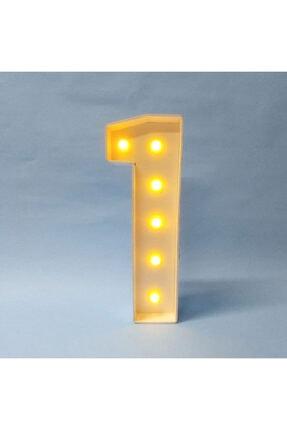 Harflamba Işıklı Doğum Günü Rakamları -1 Yaş- Pilli Led Lamba