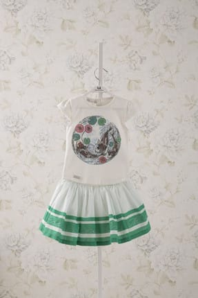 MonaRoza Yeşil Kız Bebek Alt Üst Takım