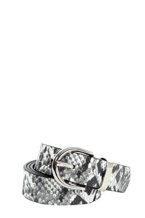 Collezione Sıyah Desenli Oval Metal Tokalı Kadın Kemer
