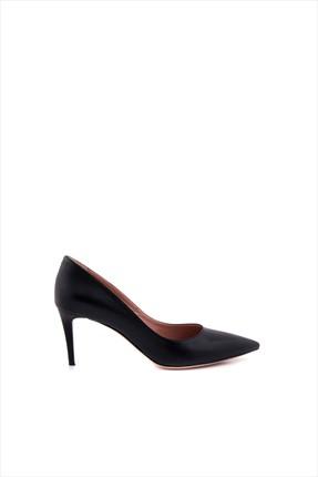 Tanca Kadın Siyah Hakiki Deri Topuklu Ayakkabı 152TCK557 21694