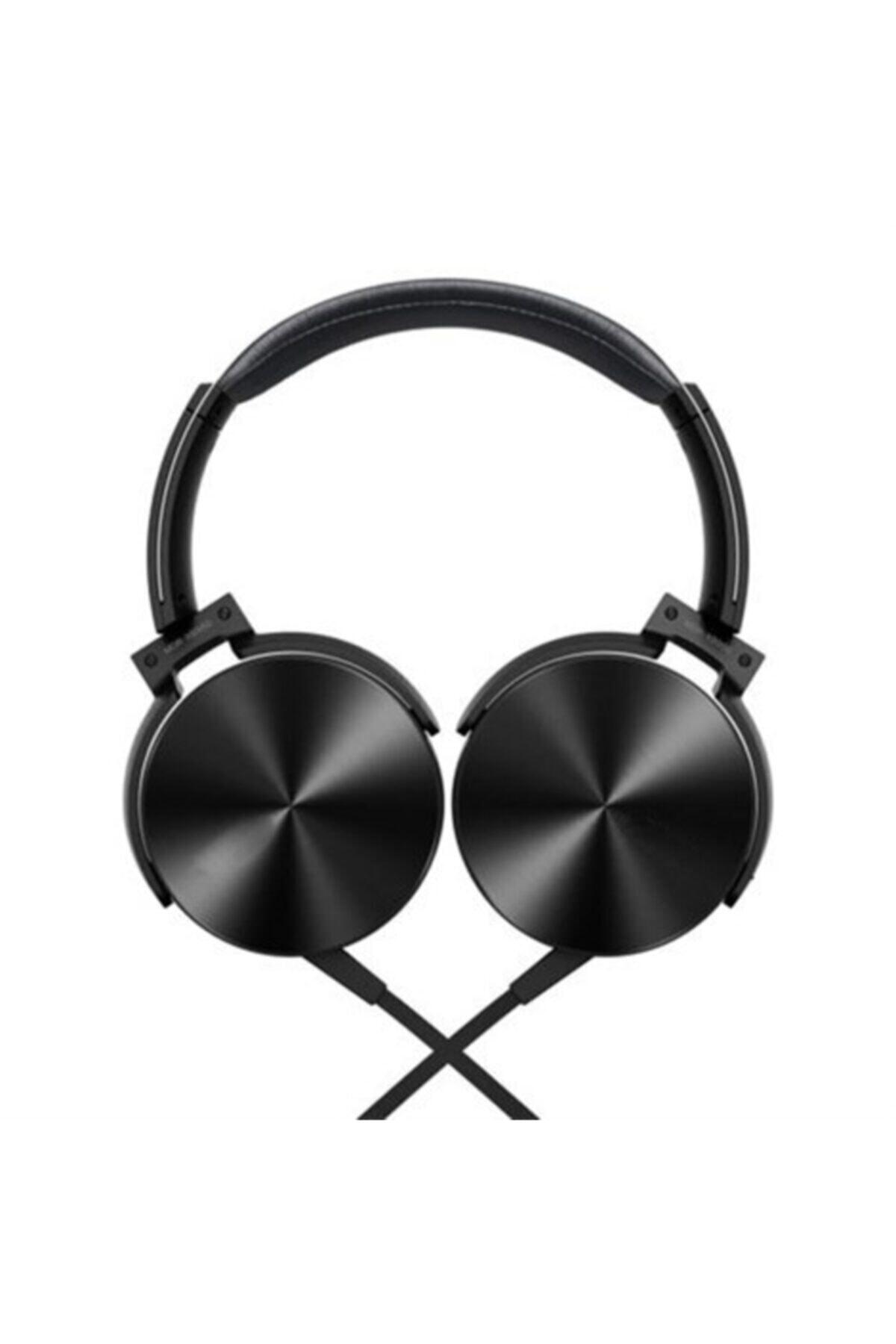 OKMORE Siyah Kafa Üstü Telefon Oyun Kulaklığı Extra Bass Stereo 2