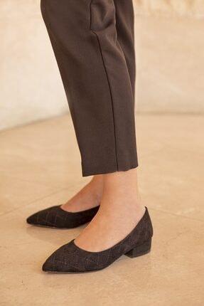 STRASWANS Worde Süet Topuklu Ayakkabı Siyah