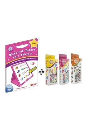 DIYTOY Diy-toy Manteyik 3'lü Eğlenceli Set Manyetik Tahta Hediyeli