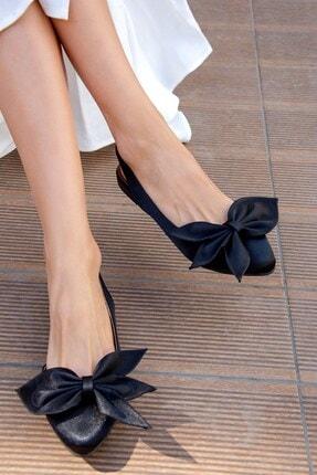 Fox Shoes Siyah Kadın Babet H726809004
