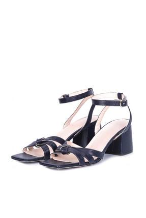 W Collection Kadın Deri Kısa Topuklu Sandalet
