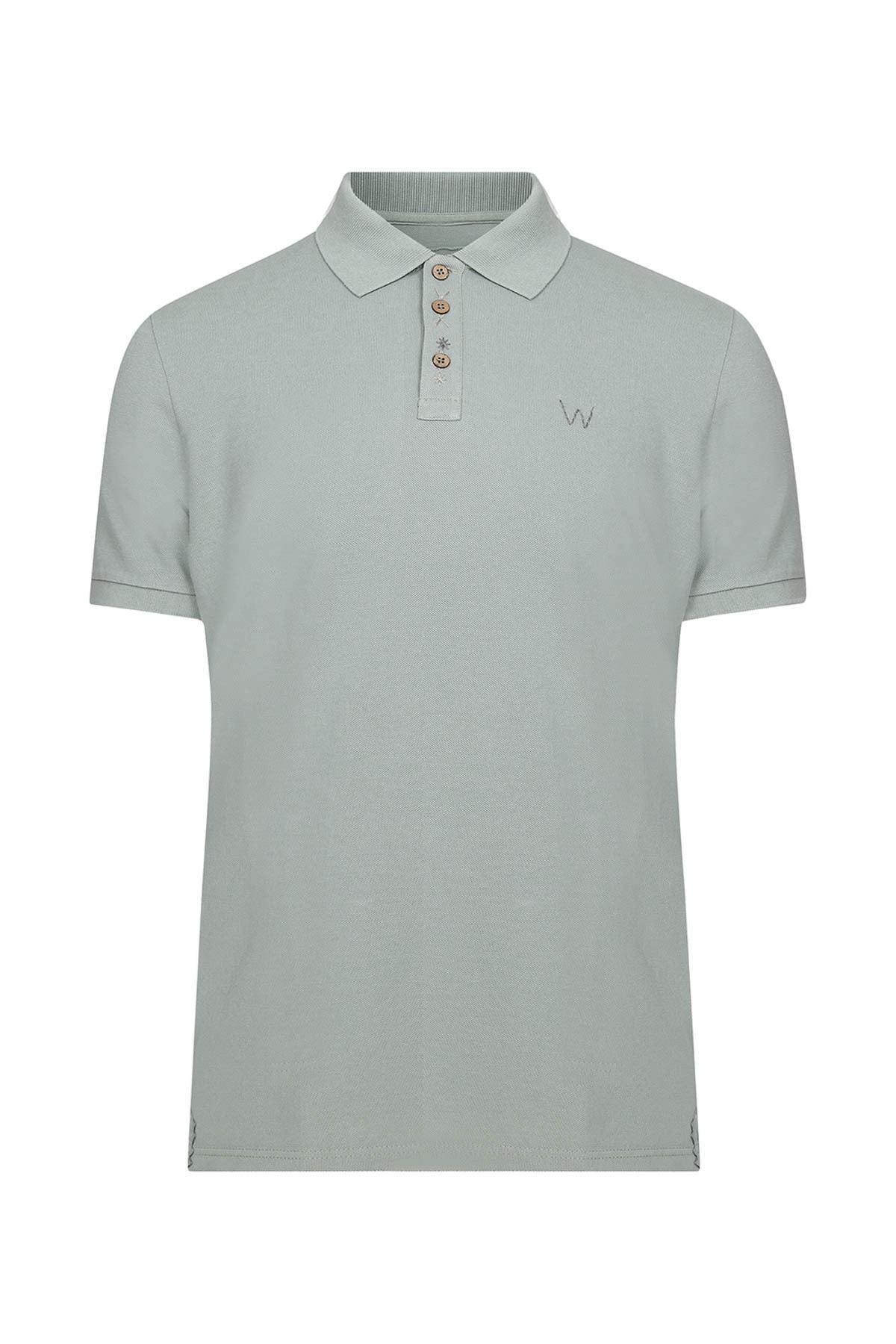W Collection Erkek Yeşil Polo Yaka T-Shirt 1
