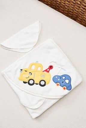 Arma Baby's Sarı Araba Keseli Banyo Havlusu