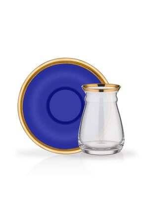 Glore Nihavent 12 Parça Camillow Kobalt Çay Bardağı Seti