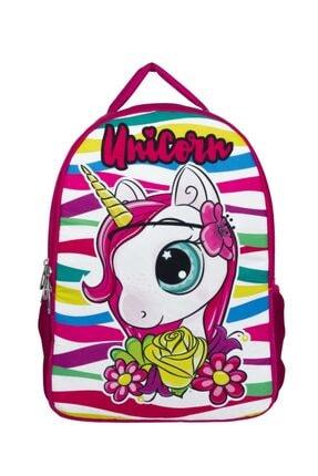ÜMİT ÇANTA Cennec Sevimli Unicorn Baskılı Kız Çocuk Anaokulu Ve Günlük Sırt Çantası