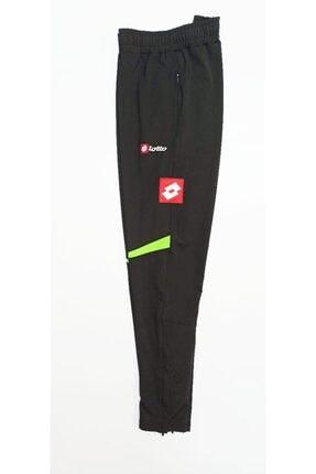 Lotto Unisex Siyah Yeşil Antrenman Spor Eşofman Altı  R0712