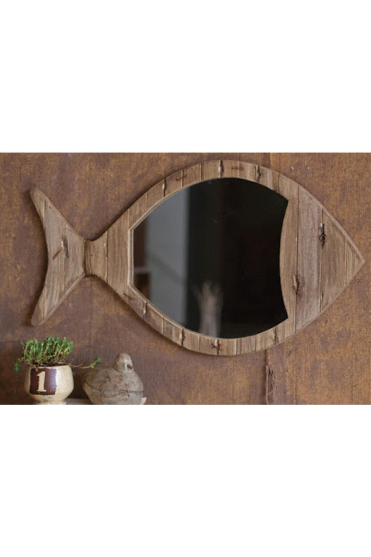 Limbo Home Ahsap Balık Ayna Küçük 2
