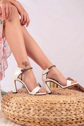 Buffalo Kadın Beyaz Brenda Topuklu Ayakkabı