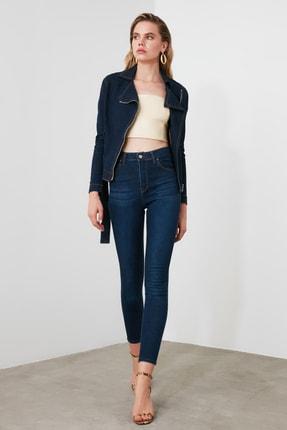 TRENDYOLMİLLA Lacivert Yüksek Bel Skinny Jeans TWOSS20JE0302