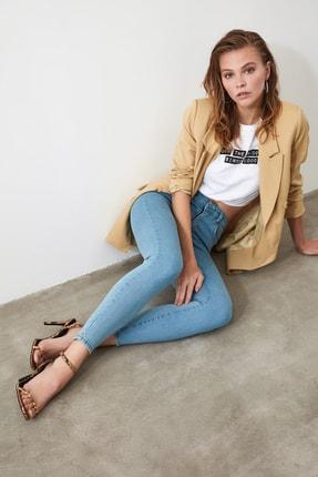 TRENDYOLMİLLA Mavi Yüksek Bel Skinny Jeans TWOSS20JE0301