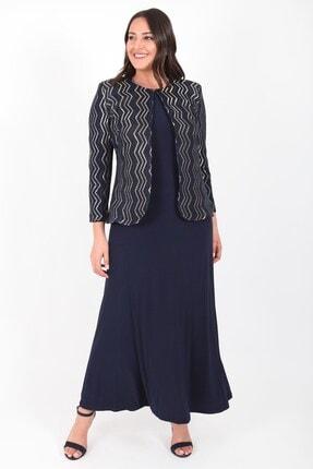 Ladies First Ladıes Fırst Büyük Beden 3153 Lacivert Elbiseli Takım