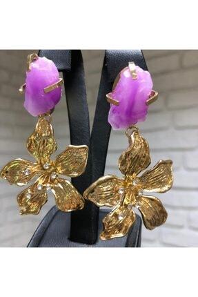 LEO Lotus Çiçeği Küpe