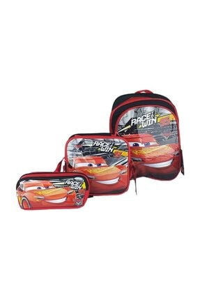 Hakan Çanta Cars Şimşek Mac Queen 3 Lü Set-çanta-beslenme-kalem Kutu