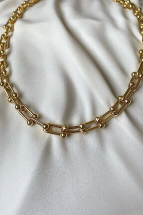 X-Lady Accessories Altın Kaplama Blanca Kolye