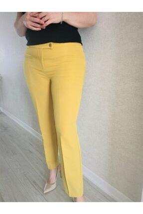 Lefon Hardal Sarısı Klasik Pantolon (dar Kalıp)