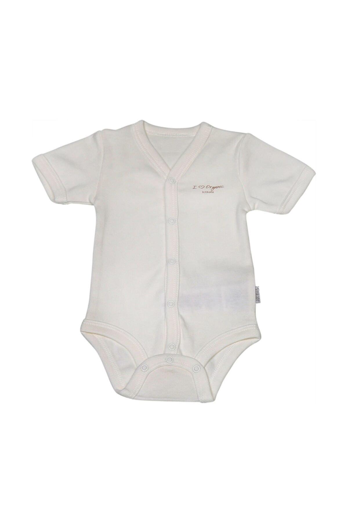 kitikate Bebek Beyaz Organik Basic Kısa Kol Body S78760 1