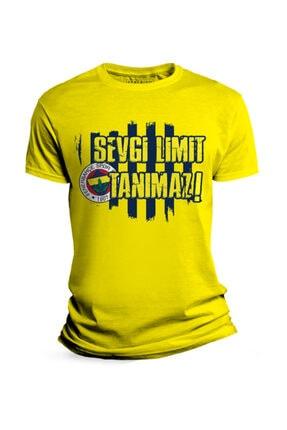 Fenerium Erkek Sarı Sevgi Limit Tanımaz T-shirt