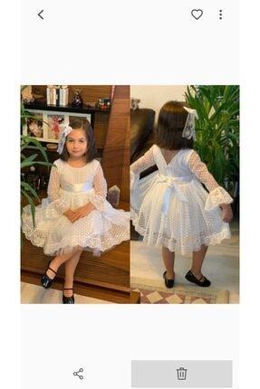 Bella Beyaz Kız Çocuk Abiye