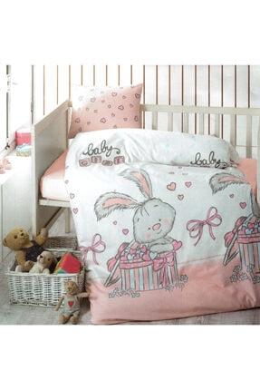 Taç Kız Çocuk Pembe Brielle Bebek Nevresim Takımı