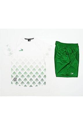 SPORTECH Unisex Beyaz Yeşil  Futbol ve Halısaha Forma Takımı R0106