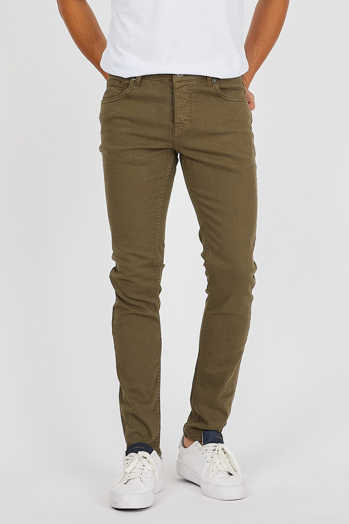 Denim Republic Erkek Haki Slim Fit Pantolon 1