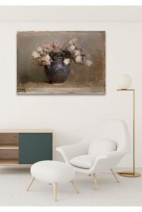 Hediyeler Kapında 90x130 Solgun Güller Duvar Kanvas Tablo
