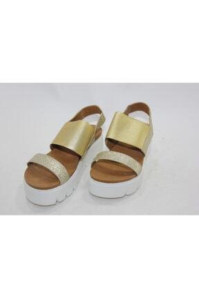İnci Kadın Gold Hakiki Deri Topuklu Ayakkabı