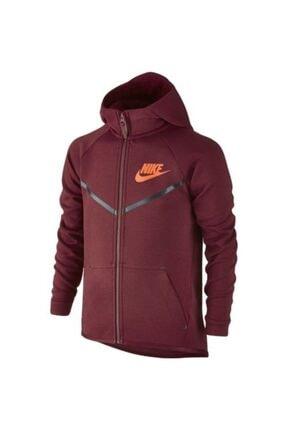 Nike B Nsw Tch Flc Wr Hoodıe Erkek Çocuk  Bordo Spor Ceket 804730-625