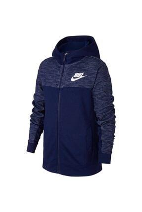 Nike B Nsw Hoodıe Fz Advance Erkek Çocuk Mavi Ceket Aj0117-478