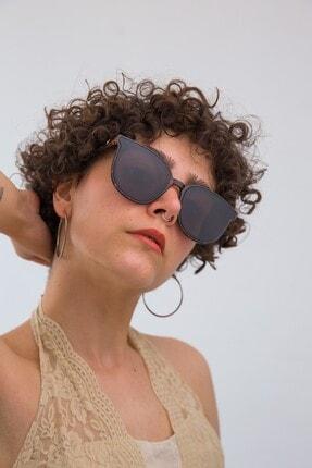 Bilge Karga Kadın Siyah Reflex Leopard Güneş Gözlüğü