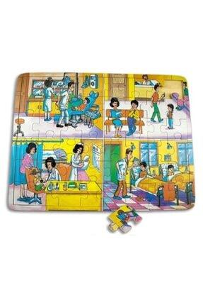 Wooden Toys Pazıl Doktarlar Günlük Yaşam Ahşap Yapboz Puzzle