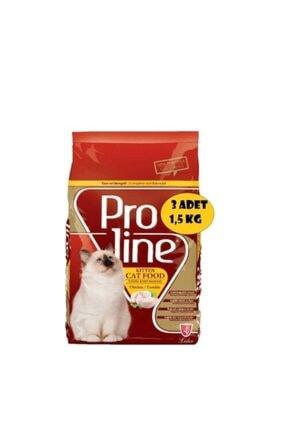 Pro Line Proline Kitten Tavuklu Yavru Kedi Maması 1,5 Kg X 3 Adet