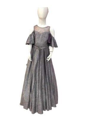 Bella Kız Çocuk Gri Abiye Elbise