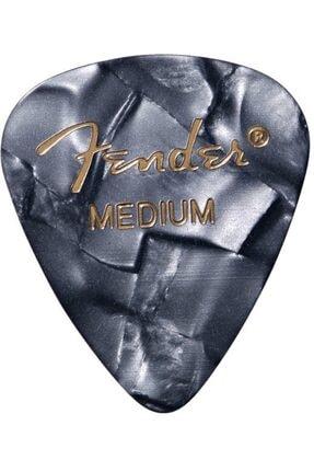 FENDER 351 Shape 1 Adet Gitar Penası Premium Black Moto Medium