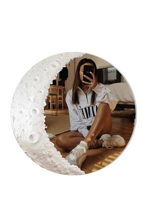 UĞUR MOBİLYA Beyaz Ay Desenli Ayna