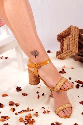 Buffalo Kadın Sarı Topuklu Ayakkabı