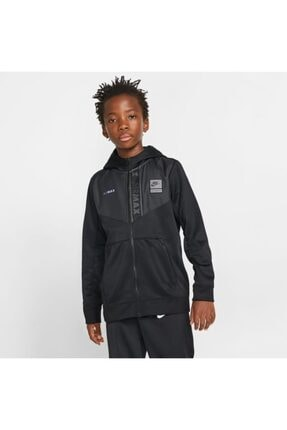 Nike Erkek Çocuk Siyah Ceket B Nsw Aır Max Pk Fz Hoodıe Yth  Cq0364-010