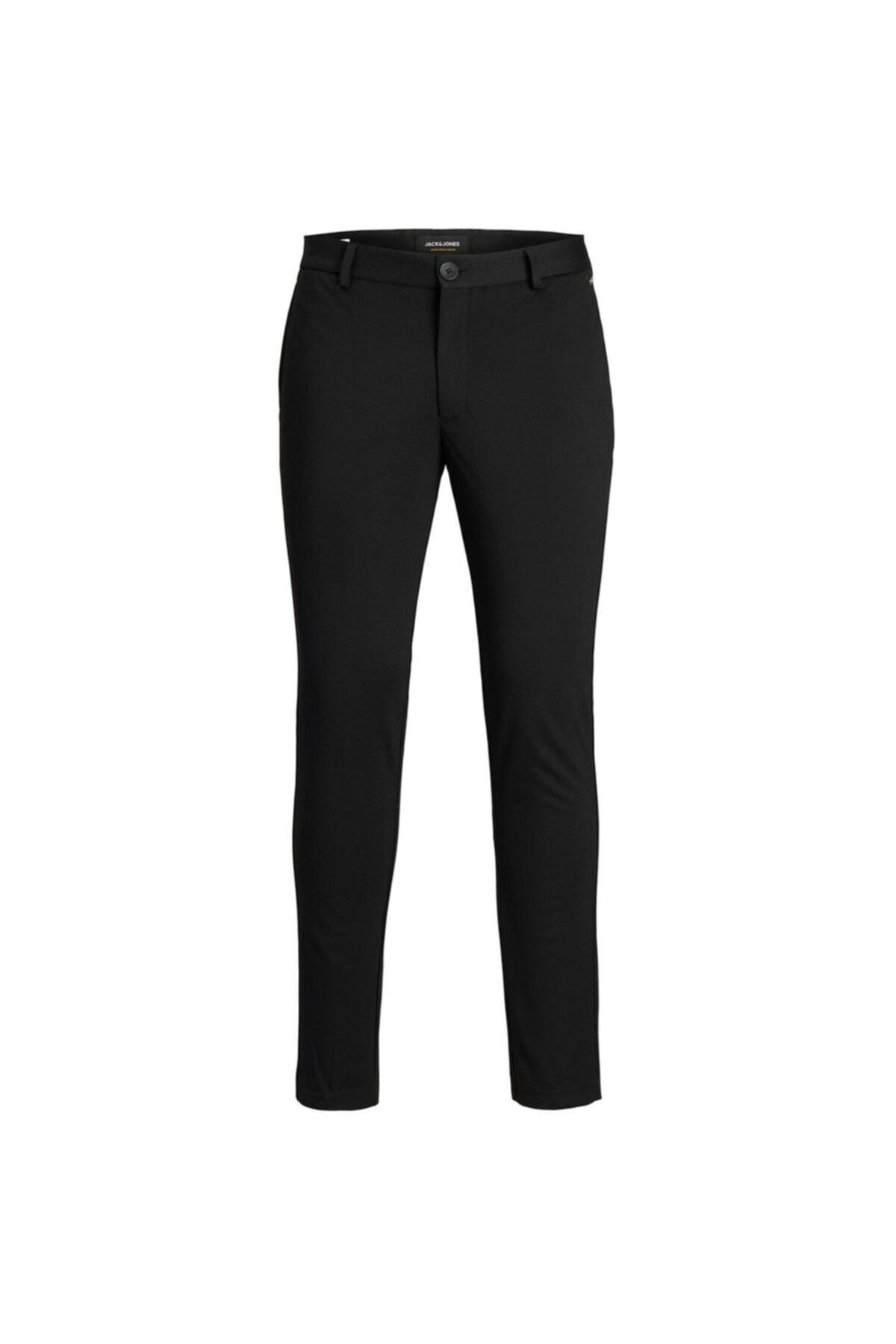 Jack & Jones Erkek Siyah Dar Paça Pantolon 12173623-b 2
