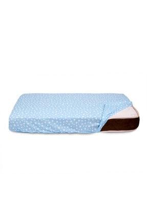 Sluupy Mavi Lastikli Fitted Bebek Yatak Çarşafı 70x120