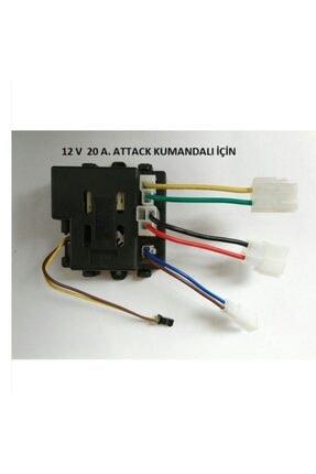 PİLSAN 12 Volt 20 A 2.4 Ghz Uzaktan Kumanda Alıcı (attack Araba Için) Siyah