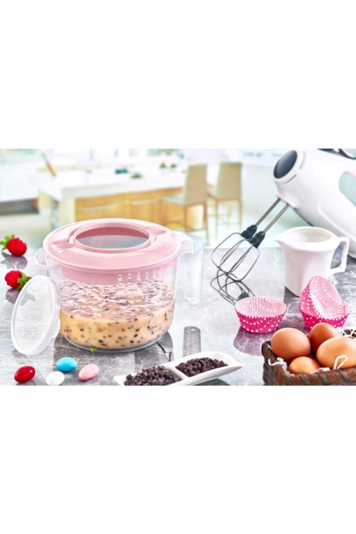 Angel Of Life Mixer Container With Lid (2500 Ml) - Kapaklı Mixer Kabı (2500 Ml) 2