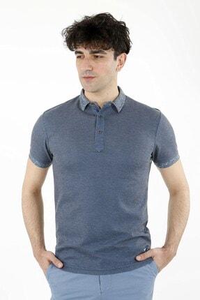 Jakamen Indigo Slim Fit T-shirt Polo Yaka