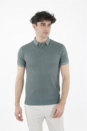 Jakamen Yeşil Slim Fit T-shirt Polo Yaka