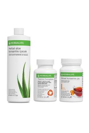 Herbalife Yağ Yakıcı Aylık Paket Şeftali Çay 50gr Thermo  Aloe Vera Içecek