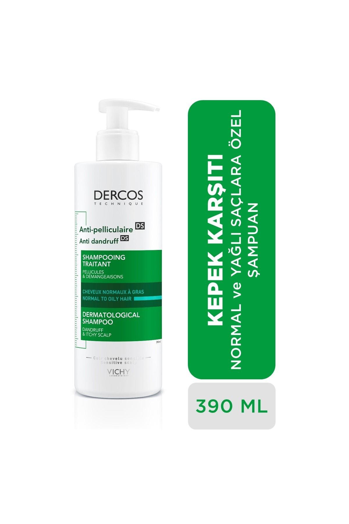 Vichy Dercos Anti-Dandruff Normal ve Yağlı Saçlar İçin Kepeğe Karşı Etkili Bakım Şampuanı 390 ml 1
